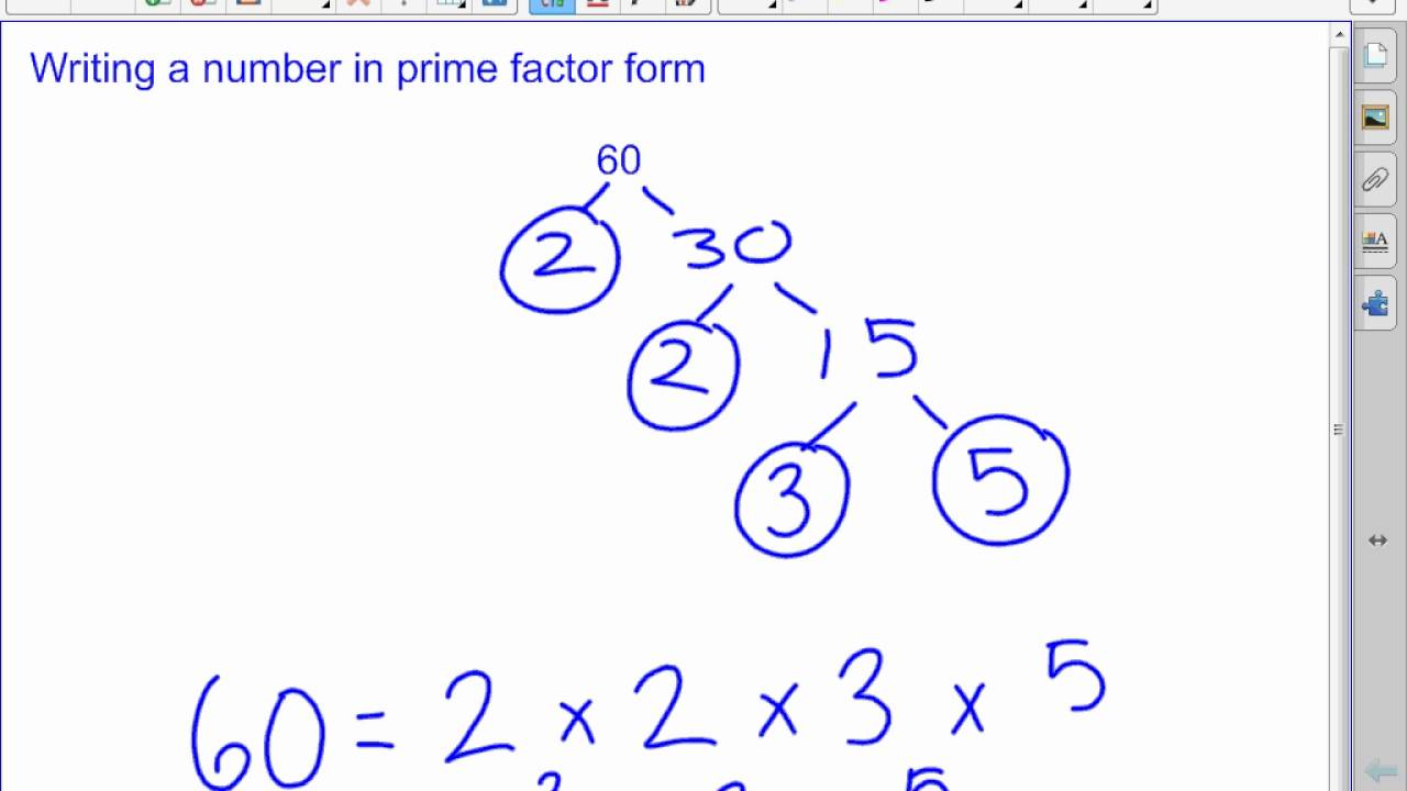 Writing Numbers in Prime Factor Form - YouTube