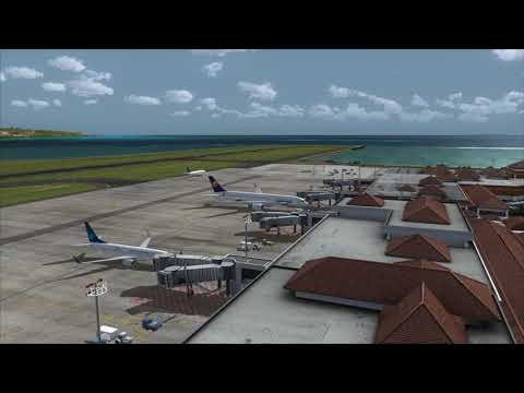 Lufthansa A350 parking at Bali Airport ++ FSX