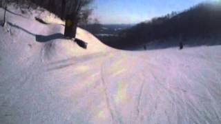 Blue Mountain Ontario Happy Valley Snowboard Crash