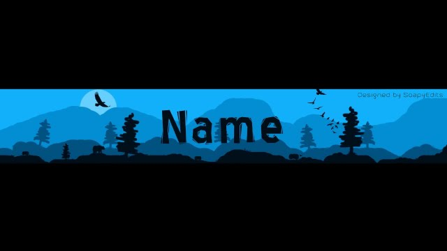 FREE BANNER TEMPLATE #4 NATURE SILHOUETTE YOUTUBE BANNER (PHOTOSHOP - youtube banner template photoshop