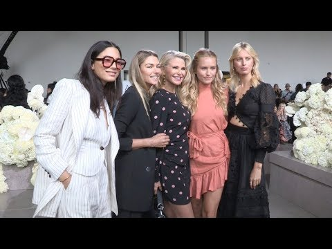 Jessica Hart, Christie Brinkley and more at Zimmermann Fashion Show in New York