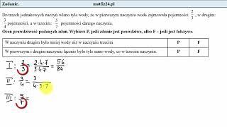 Egzamin ósmoklasisty. Zadanie 3. Porównywanie ułamków | MatFiz24.pl