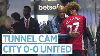 FELLAINI SEES RED! | City 0-0 United | Tunnel Cam