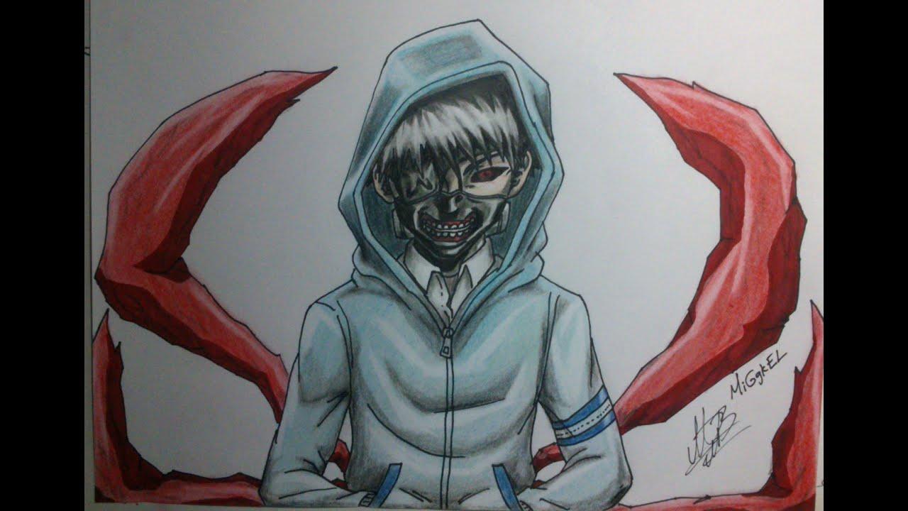 Dibujando a KANEKI de Tokyo Ghoul How to draw KAN  YouTube