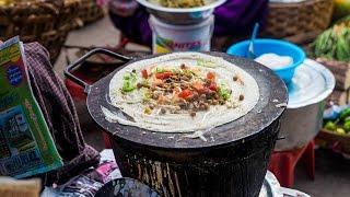 Street Food in Myanmar -  Sweet and Salty Dosa in Yangon!