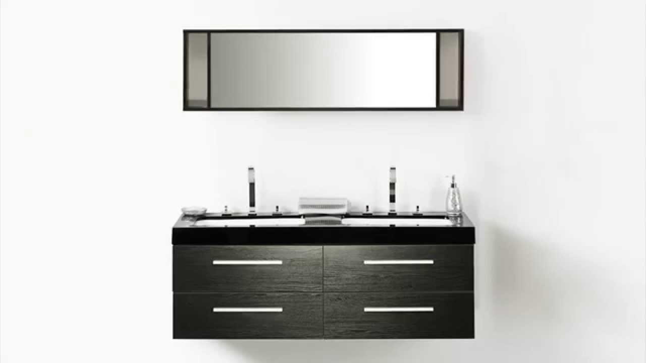 Beliani bathroom furniture black with wash basins wash basin cabinets and mirrors malaga eng