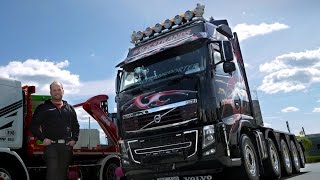 "Volvo Trucks – A black beauty of a Volvo FH16 with 700 horsepower – ""Welcome to my cab – light"""