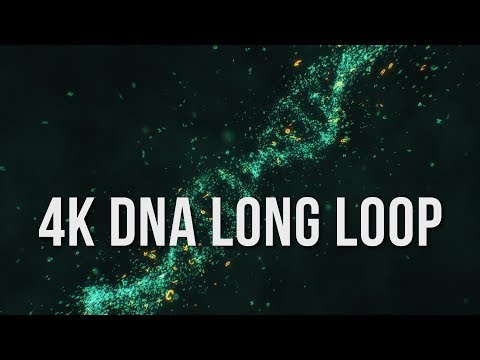 Free 4K Rotating DNA 30 min Video Long Loop - Screensaver