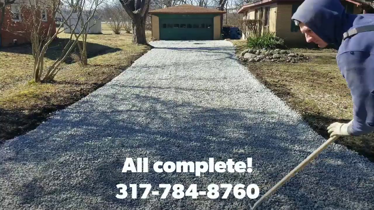 Old Asphalt Driveway Removal Transformed into New, Fresh Crushed Stone Driveway