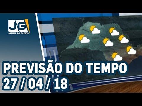Previsão do Tempo - 27/04/2018