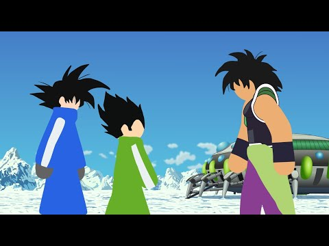Goku And Vegeta VS Broly Stick Fight!!