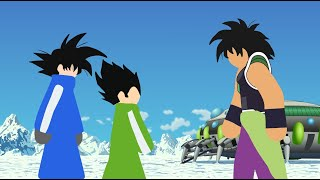 Download Goku and Vegeta VS Broly Stick Fight!! Mp3 and Videos