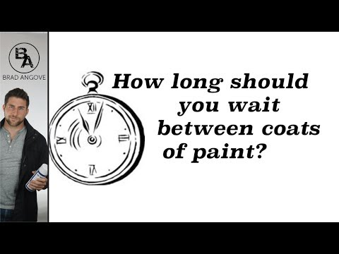 how long should you wait between coats of paint youtube. Black Bedroom Furniture Sets. Home Design Ideas