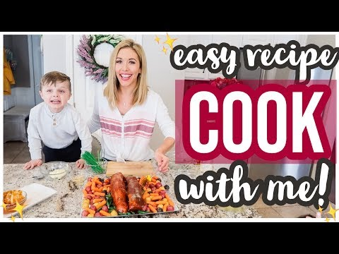 COOK WITH ME! EASY ONE PAN PORK DINNER RECIPE! Brianna K