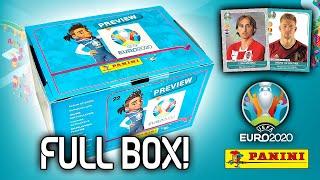 Komplette sticker box (600 sticker)   panini uefa euro 2020 preview sammlung 120 päckchen!