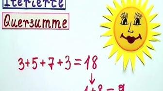 Iterierte Quersumme  die Matheeexpertin erklärt