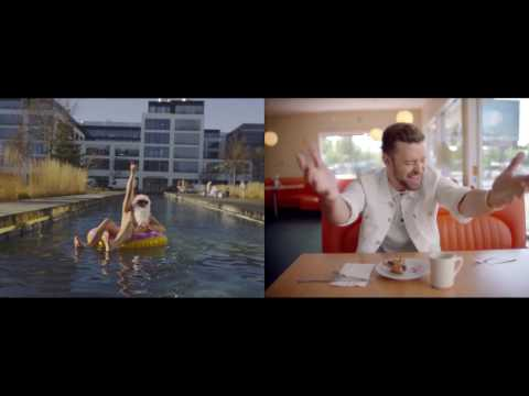 Justin Timberlake - Can't Stop The Feeling! Split Screen - Sony Music Germany Xmas Greetings
