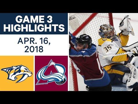 NHL Highlights | Predators vs. Avalanche, Game 3 - Apr. 16, 2018