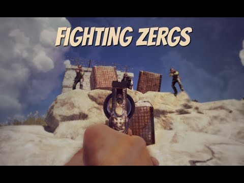 RUST | FIGHTING ZERGS.