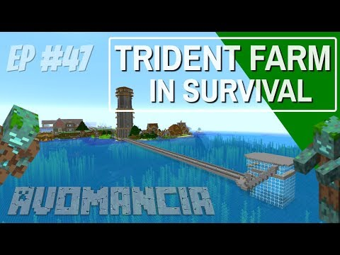how-to-make-a-trident-farm-in-minecraft-in-survival-|-avomancia-ep47-drowned-farm-with-avomance
