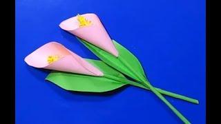 Как Сделать Цветы Бумаги Своими Руками Учебник Ремесла. Поделки Из Бумаги Оригами с Детьми!