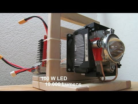 EXTREM bright 10.000 LM 100W LED Flashlight [DIY] HD