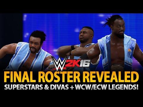 WWE 2K16: Final Roster Revealed! WCW, ECW + Screenshots!