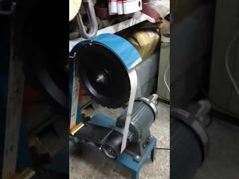 砂布環帶機 M270多用途 研磨 拋光 砂輪砂布環帶機 自行研發 - YouTube
