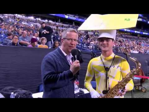 Dan Potter talks with a Flower Mound H.S. student