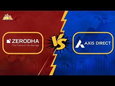 Zerodha Vs Axis Direct - Stock Brokers Comparison in Hindi