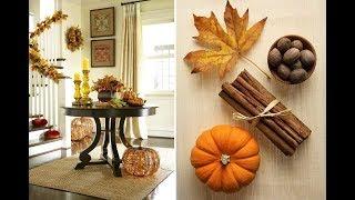 Сухие ОСЕННИЕ КОМПОЗИЦИИ из цветов, листьев и плодов для украшения интерьера