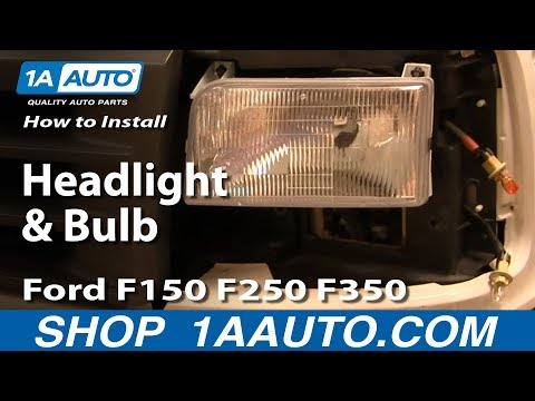 How To Install Replace Headlight and Bulb Ford F150 F250 F350 92-96 1AAuto.com