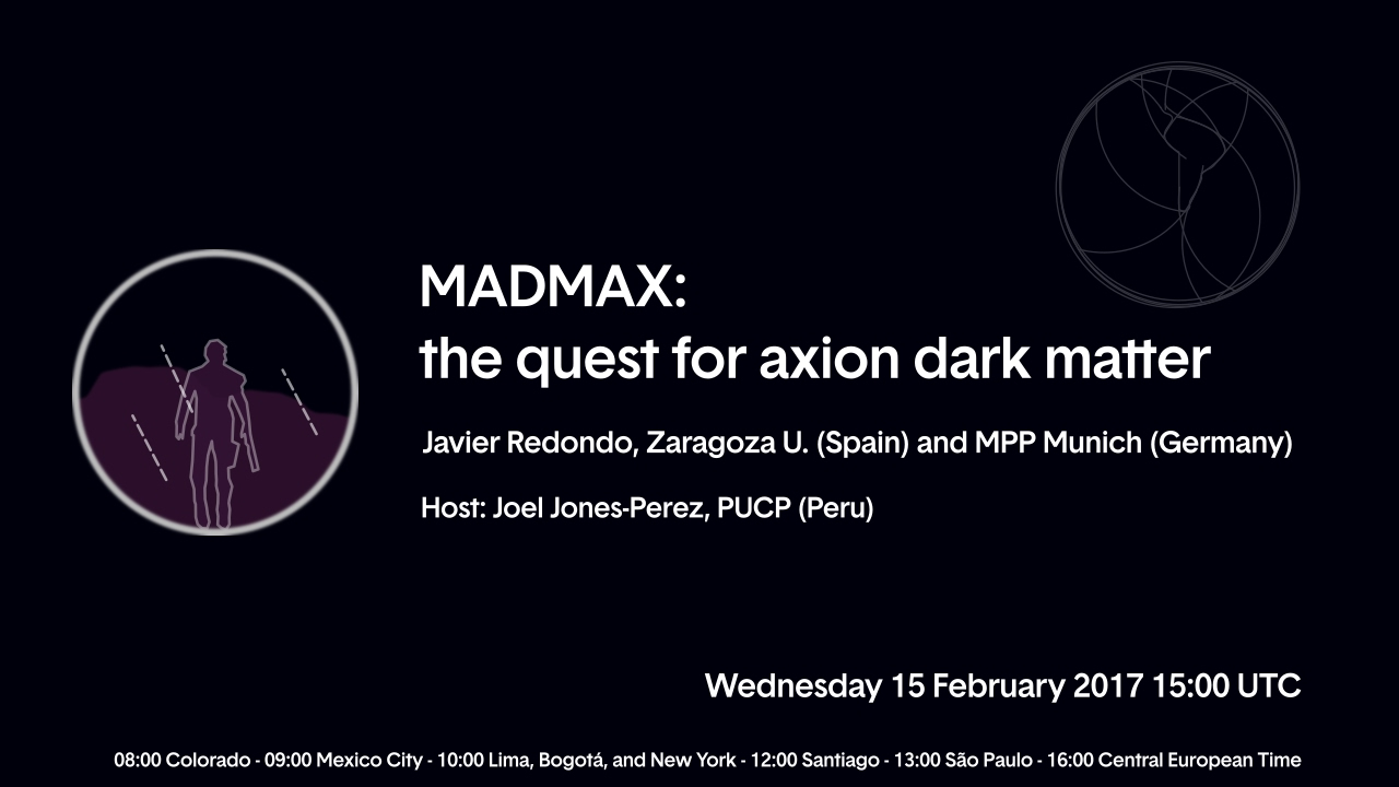 W35 Javier Redondo Madmax The Quest For Axion Dark Matter Youtube