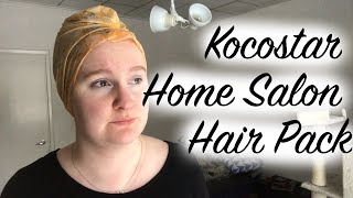 Trying out a Kocostar Home Salon Hair Pack with long hair