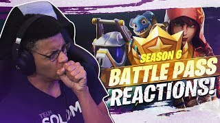 BUYING EVERY TIER! SEASON 6 BATTLE PASS REACTION (Fortnite BR Patch 6.0)