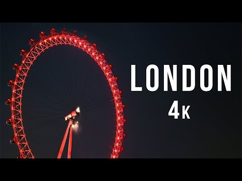 LONDON - BEST NIGHT CITY TRAVEL. Visit England - United Kingdom. DJI Mavic Drone Aerial Footage 4k.