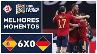 AULA DE FUTEBOL! ESPANHA GOLEIA ALEMANHA NA NATIONS! ESPANHA 6X0 ALEMANHA - MELHORES MOMENTOS