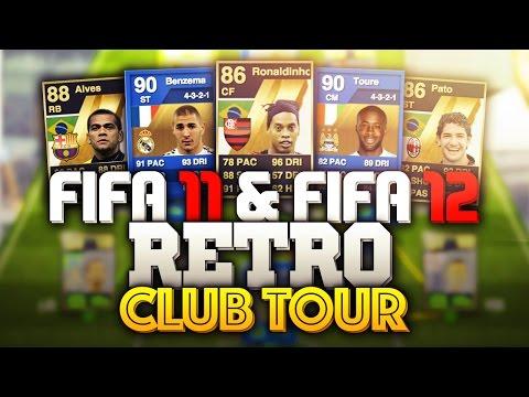 OMG THE FEEEEELS! AWESOME RETRO FIFA 11 & FIFA 12 CLUB TOUR!
