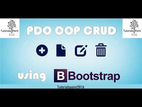 PDO-OOP-PHP-CRUD-with-Bootstrap 2016 (Insert,Delete,Update Commands