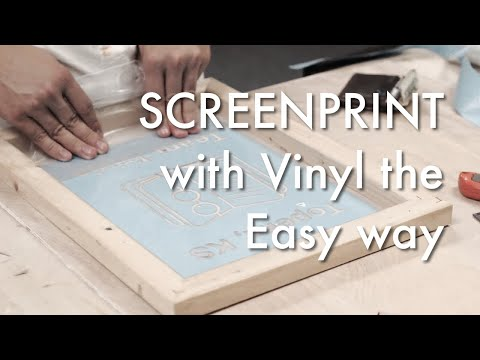 How to Screen Print with a Vinyl Cutter