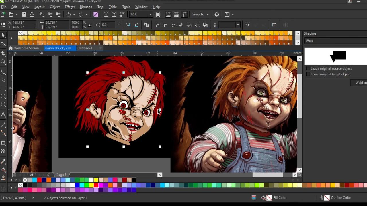 Cara Desain Sticker 3d Chucky Youtube