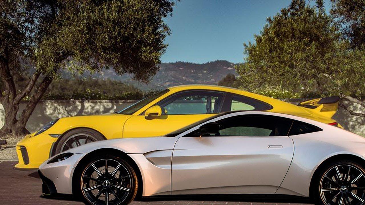 2018 Aston Martin Vantage Vs 2018 Porsche 911 Gt3 Youtube