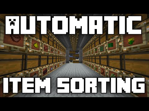 Minecraft Tutorial: Automatic Item Sorting Storage System thumbnail