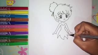 How to Draw Cute Tinkerbell Princess Disney