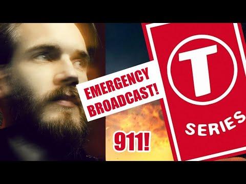 Emergency Broadcast: Pewdiepie vs T-Series