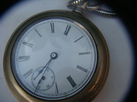 Vintage Antique Old Waterbury USA  Pocket Watch  Need second  Hand * See Video *