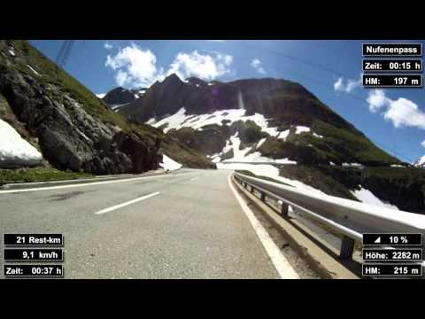 Indoor Cycling Training: Nufenenpass / Suisse (now in full length: https://youtu.be/dR_UuxzrupU)