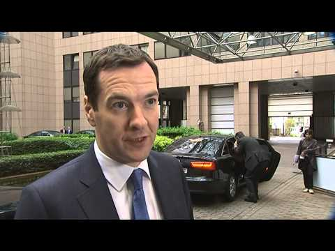 Arrival and doorstep by George Osbourne, Chancellor of the Exchequer of the United Kingdom