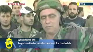Hezbollah TV shows Israeli airstrike site in Syria