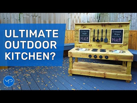 How to Build an Outdoor Kitchen ~ DIY Woodworking